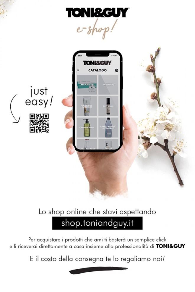 Arriva il primo E-Shop Firmato TONI&Guy Italia 7 Aprile 2021