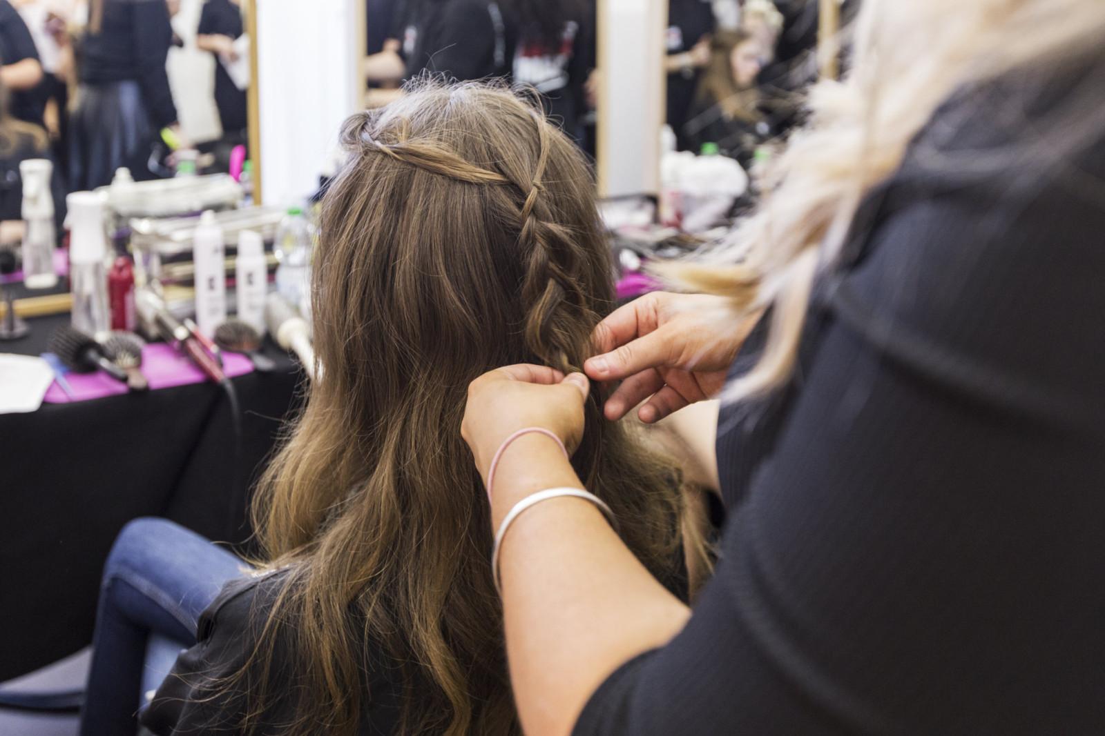 Fashion Week Alberta Ferretti hairstyle Toni and Guy