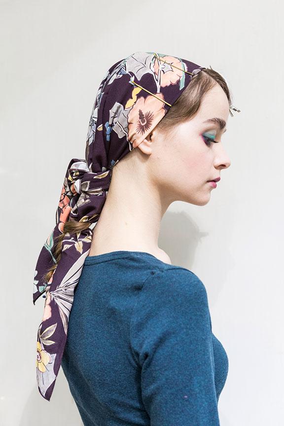 trecce foulard
