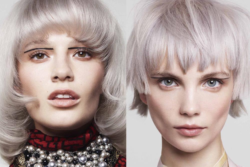 Tendenza capelli  il colore metallizzato che illumina l inverno 1f3178b0d4e4